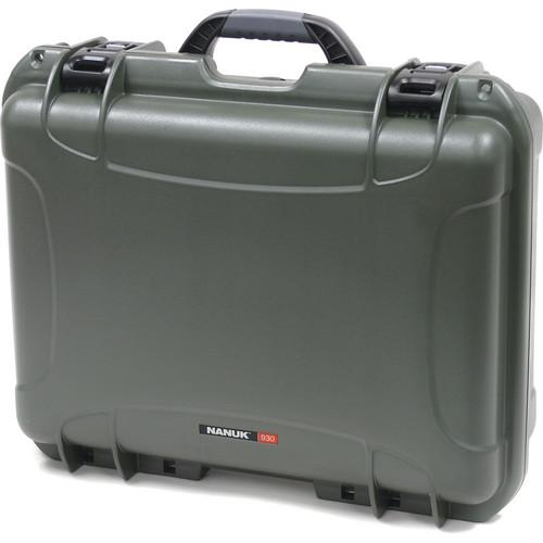 Nanuk 930 Case with Padded Dividers (Olive) 930-2006