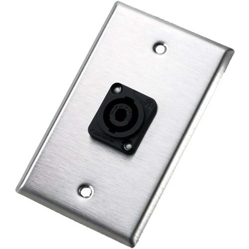 Neutrik 104L Single Gang Wallplate with Male Receptacle 104L