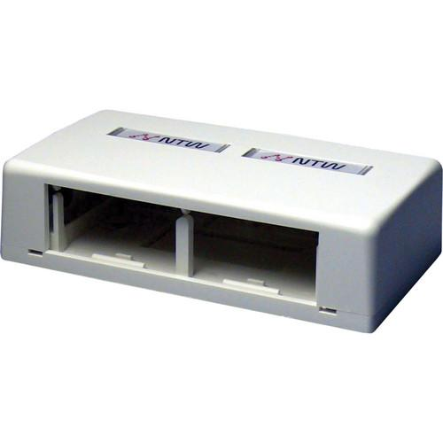 NTW 3UN-SB2W UniMedia Surface Mount Box with 2 Outlets 3UN-SB2W