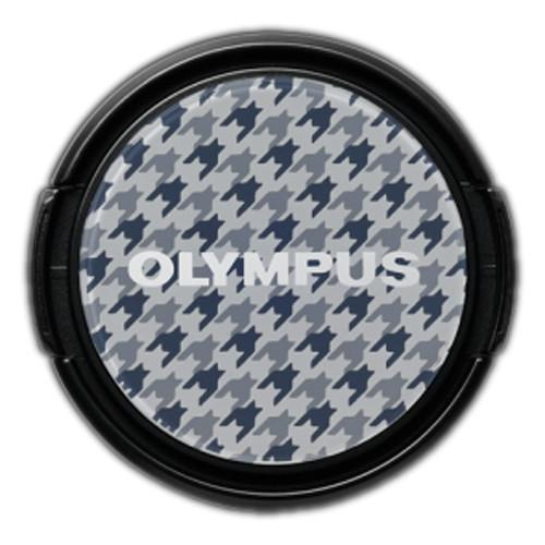 Olympus LC-37PR Gray Checked Decorative Lens Cap V6540034W000