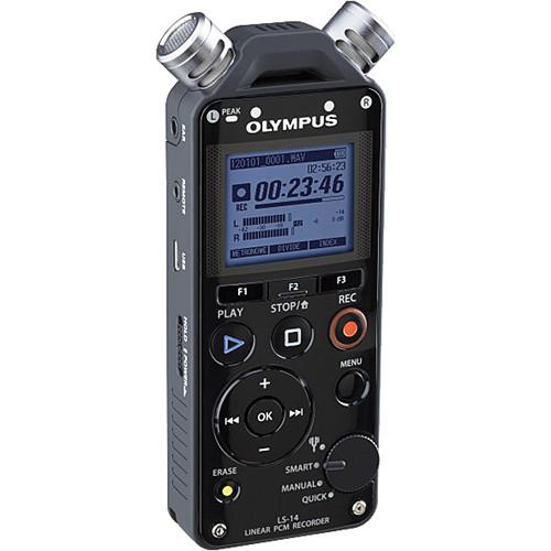 Olympus LS-14 Linear PCM Recorder (Black) V409141BU000