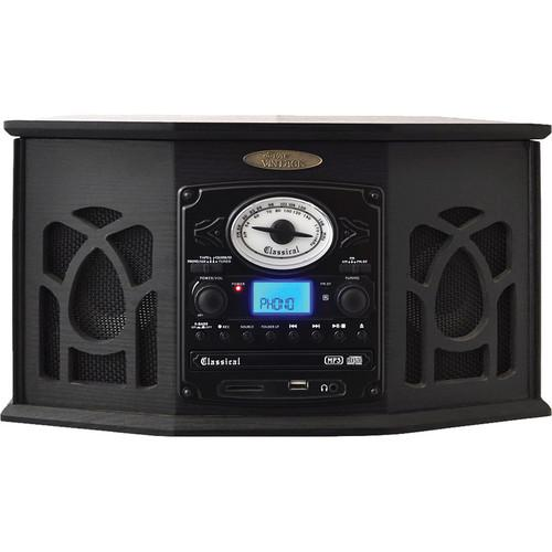 Pyle Home Retro Vintage Turntable System (Black) PTCDS7UIB