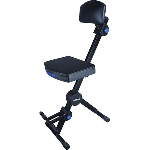 QuikLok Adjustable Musicians' Stool with Back and DX-749