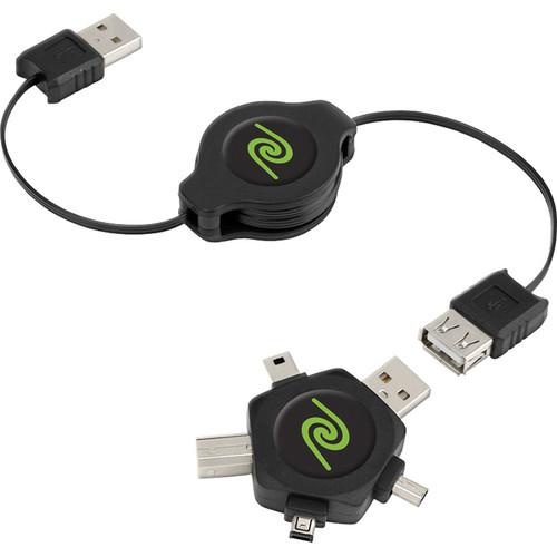 ReTrak 3.2' Retractable Universal USB 2.0 Cable ETCABLESTAR
