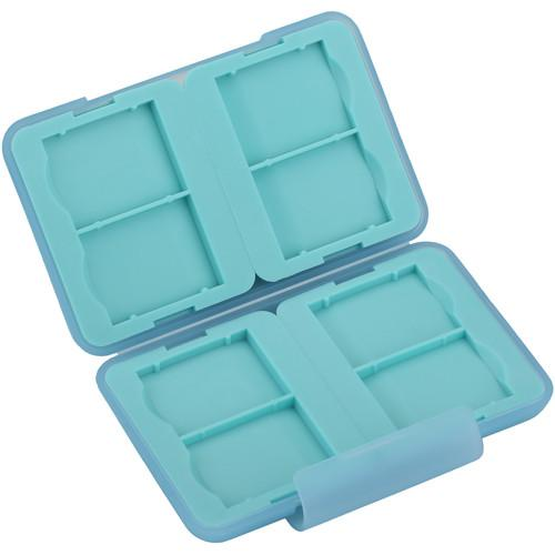 Ruggard Memory Card Case for 8 SD Cards (Light Blue) MCT-SD8BL