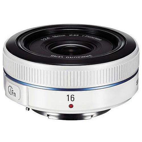 Samsung 16mm f/2.4 Ultra Wide Pancake Lens (White) EX-W16ANW/US