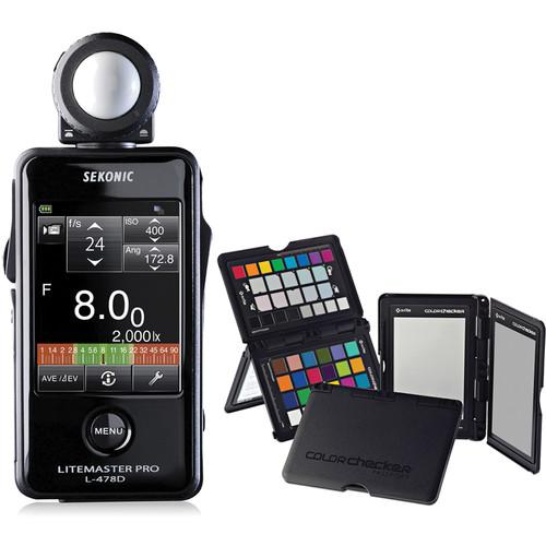 Sekonic Litemaster Pro L-478D Light Meter and X-Rite 401-478CCPP
