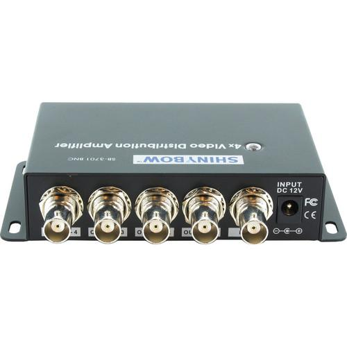 Shinybow 1 x 4 Composite Video Distribution Amplifier SB-3701BNC
