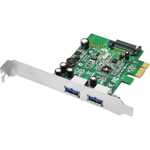 SIIG Dual Profile 2-Port USB 3.0 PCIe Adapter JU-P20612-S1