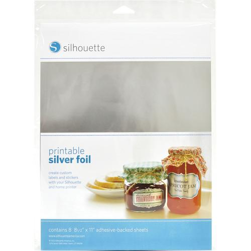 silhouette Printable Adhesive Silver Foil MEDIA-SVR-ADH
