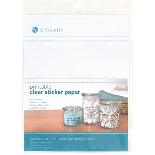 silhouette Printable Clear Sticker Paper MEDIA-CLR-ADH
