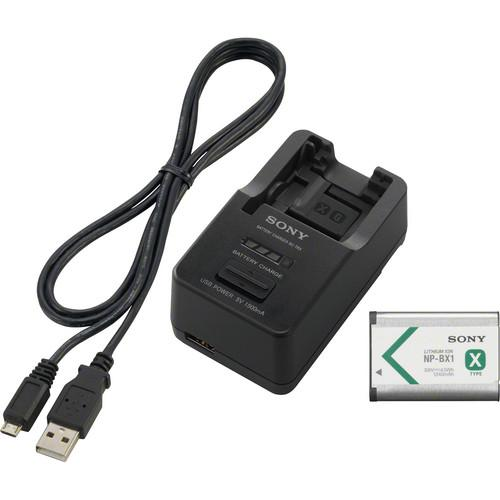 Sony Battery and Charger Kit with NP-BX1 Battery ACCTRBX