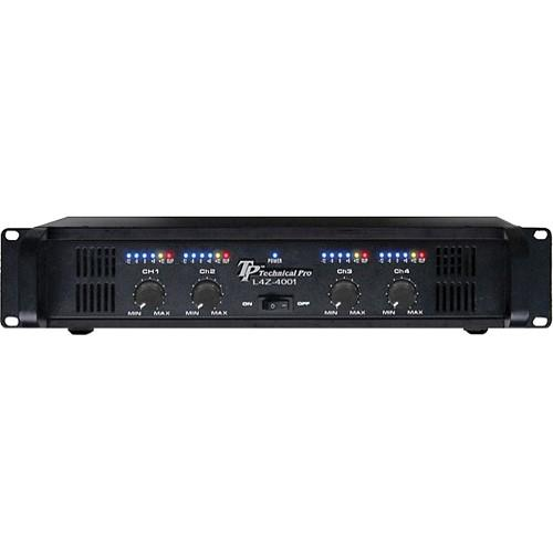 Technical Pro L4Z4001 4-Channel Power Amplifier L4Z4002