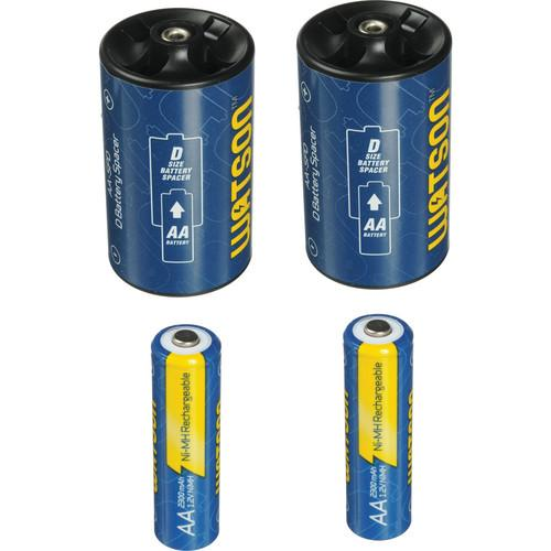 Watson D Spacer Pack with 2 AA NiMH Batteries AA-SPD