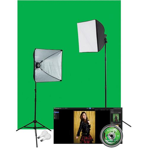Westcott Illusions uLite 2-Light Green Screen Photo 401N