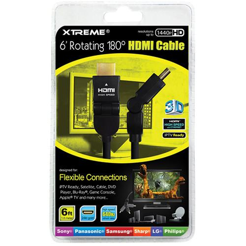 Xtreme Cables Rotating Angle HDMI Cable (6') 74186