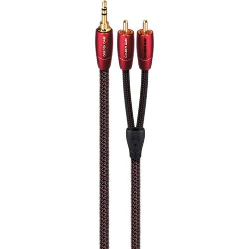 AudioQuest Golden Gate 3.5mm to RCA Cable (2.0') GOLDG0.6MR