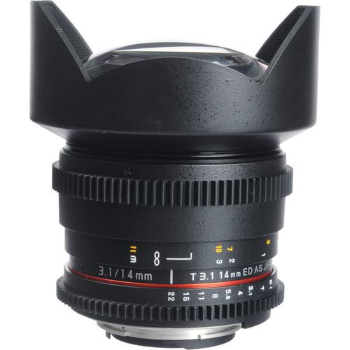 Bower 14mm T3.1 Super Wide-Angle Cine Lens For Nikon F SLY14VDN