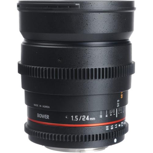 Bower 24mm T1.5 Ultra-Fast Wide-Angle Cine Lens SLY24VDS