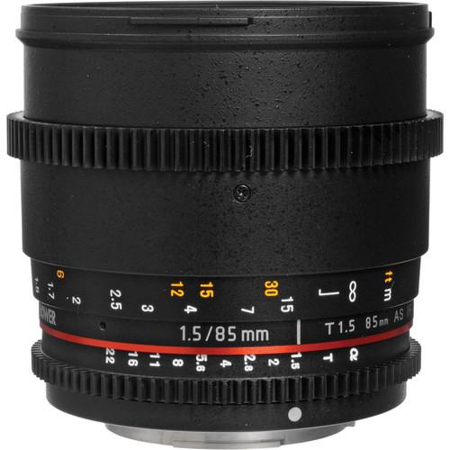 Bower  85mm T1.5 Cine Lens for Sony A SLY85VDS