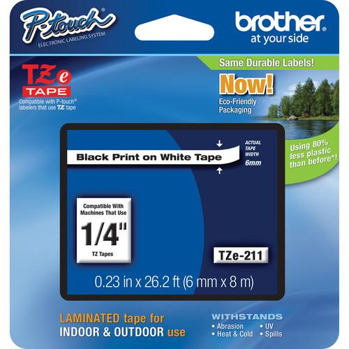 Brother TZe211 Laminated Tape for P-Touch Labelers TZE-211