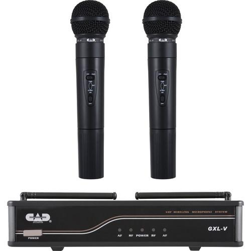 CAD VHF Dual Channel Handheld Wireless Microphone GXLVHH-J