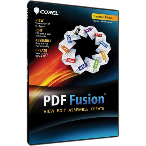 Corel PDF Fusion Education Edition for Windows CPDFF1ENDVDA