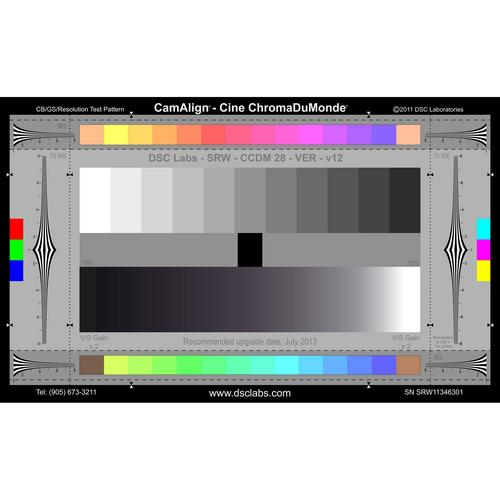 DSC Labs The Cine-ChromaDuMonde (SRW) Camera Test Chart CCDMS