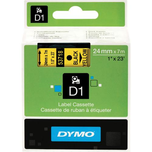 Dymo Standard D1 Tape (Black on Yellow, 1.0