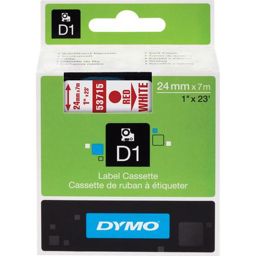 Dymo Standard D1 Tape (Red on White, 1.0
