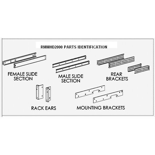 FEC 14oo RMMHD2000 Custom Rack-Slide Kit RMMHD2000