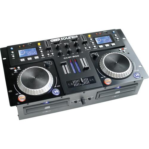 Gem Sound CMP-500 - Dual CD, MP3, USB Player and Mixer CMP500