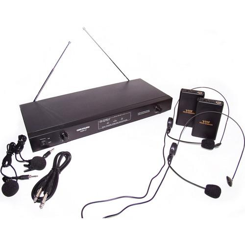Gem Sound GMW-62 VHF Dual Wireless Lapel and Headset GMW62