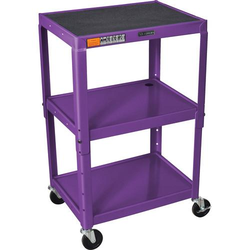 H. Wilson W42A Adjustable Steel AV Cart with 3 Shelves W42AP