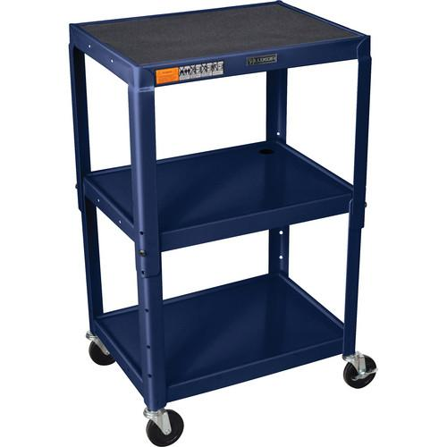 H. Wilson W42A Adjustable Steel AV Cart with 3 Shelves W42AZ