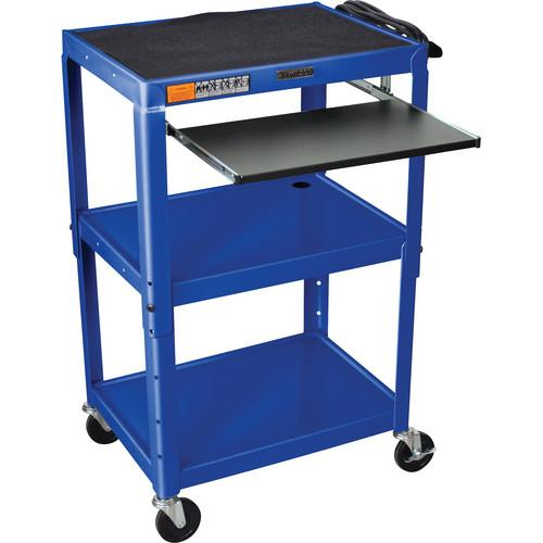 H. Wilson W42ABUEKB Adjustable Height Steel A/V Cart W42ABUEKB