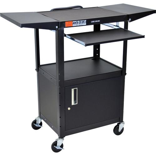 H. Wilson W42ACEKBDL Adjustable Height Steel A/V Cart W42ACEKBDL