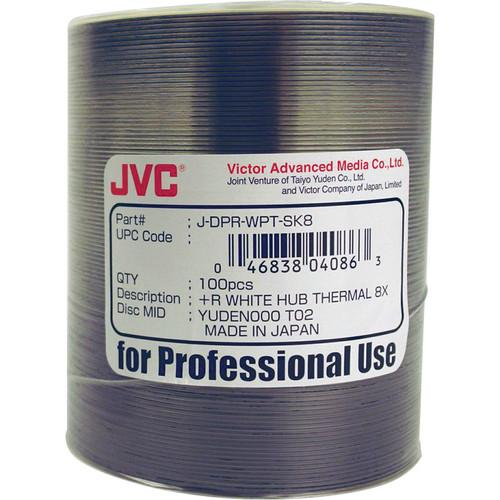 JVC DVD R (Thermal Re-Transfer White, 100-Pack) JDPR-WPT-SK8