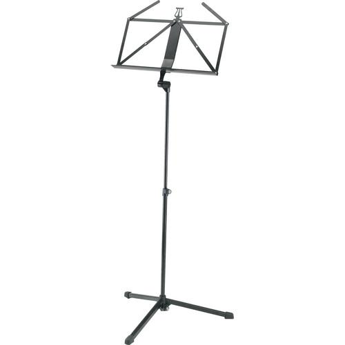 K&M 2-piece Foldable Starline Music Stand (Black) 12175-000-55
