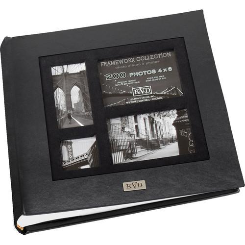 Kleer Vu 200 Photo 4x6 Frameworx Photo Album (Black) 80242-N