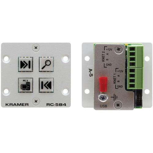 Kramer RC-5B4 Wall Plate Insert 4-Button Auxiliary RC-5B4