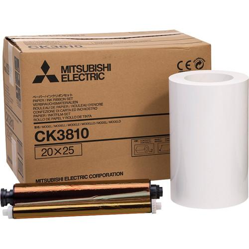 Mitsubishi CK3810 Paper and Ribbon Set for CP-3800DW CK-3810