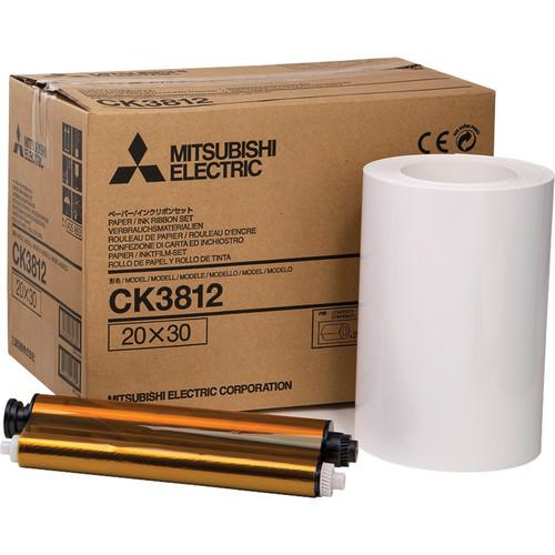 Mitsubishi CK3812 Paper and Ribbon Set for CP-3800DW CK-3812