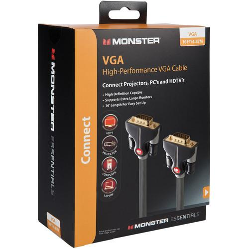 Monster Cable Essentials High Performance VGA Male to VGA 140783