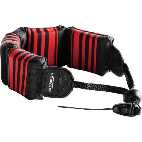 Olympus  Floating Wrist Strap (Black/ Red) 202589