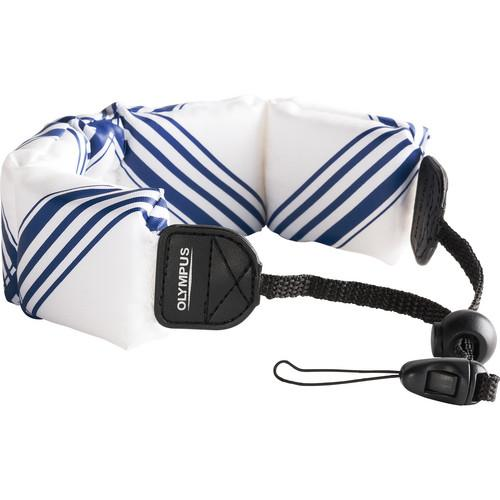 Olympus Floating Wrist Strap (White/ Blue) 202590