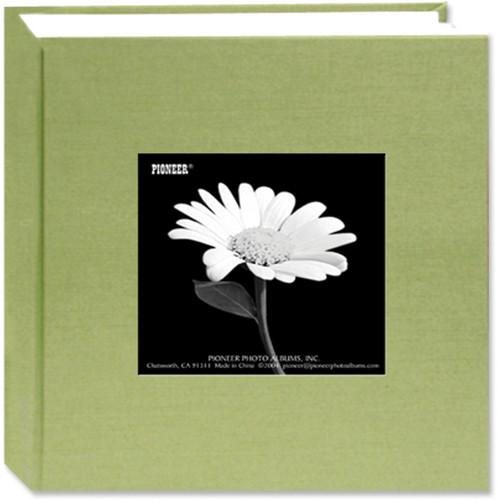 Fabric Frame Cover Photo Album 300 Pockets Hold 4x6 Photos Sage