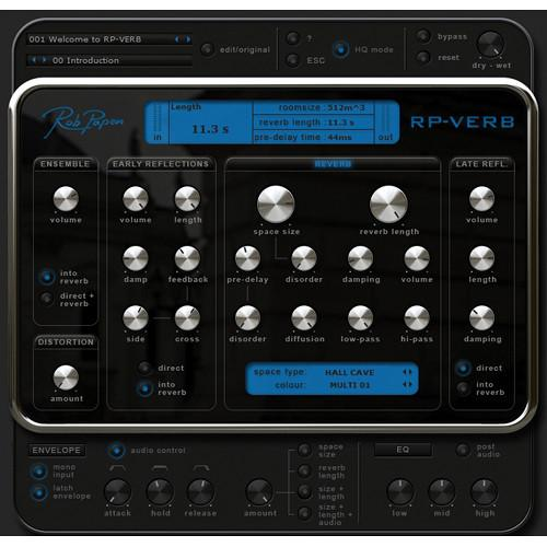 Rob Papen RP-Verb - Reverb Plug-in (Upgrade) RPPUB13SN