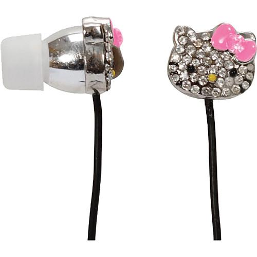 Sakar Hello Kitty HK Bling Metal Earbuds With Mic HKBL1000-MIC