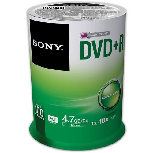 Sony Recordable Storage DVD R (Pack of 100) 100DPR47SP/US